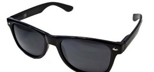 QLook Vintage Blues Brothers Wayfarer Style Sunglasses - Black
