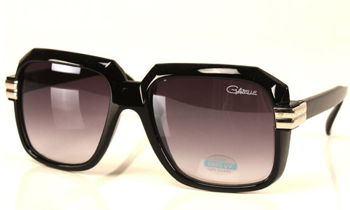 Run DMC Rapper Retro Gazelle Large Sunglasses Black
