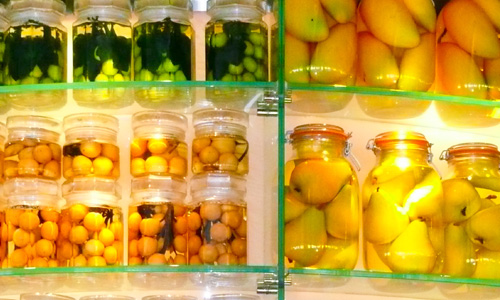 Canned fruits and juices