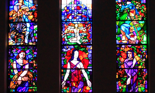 Stain glass painting