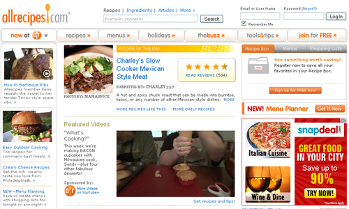 Top 5 Recipe Websites For Your Gastronomical Delights