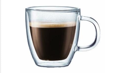 bodum bistro doublewall insulated 10ounce glass mug