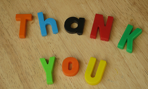 5 ways to say 'Thank You'