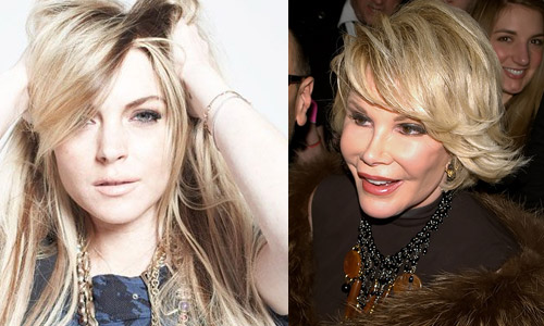 <h4>10. Lindsay Lohan vs. Joan Rivers</h4>