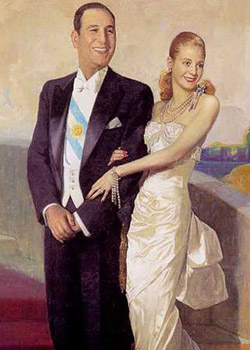 Juan and Evita Peron