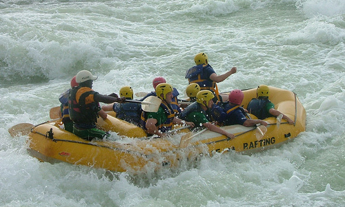 <h4>3. White water rafting</h4>