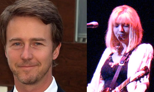Ed Norton and Courtney Love
