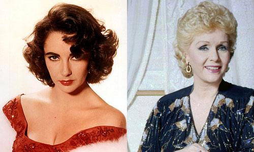 Elizabeth Taylor and Debbie Reynolds