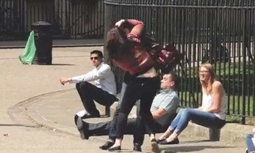 Shocking Video! Strangers Help When a Man Assaults a Woman But Laugh When the Woman Assaults the Man