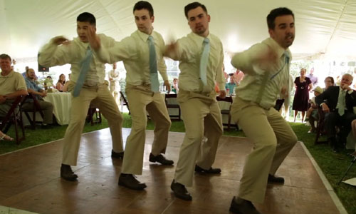 Every Bride Would Love To See Her Groom and His Friends To Dance To a Timberlake Number