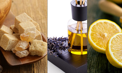 2. Organic cane sugar, lavender and lemon essential oils