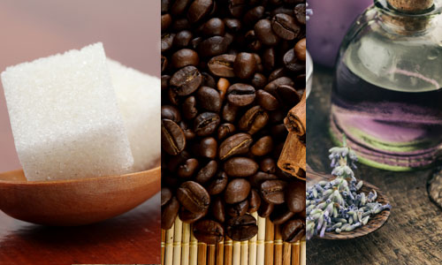 Sugar, coffee and lavender