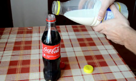 What Happens When You Mix Milk And Coke, Well Someone Tried It Out!