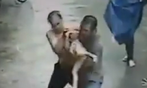 Unbelievable! Man Catches Baby Falling From A Second Storey Window