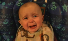 This Cute Baby Gets Very Emotional Hearing Mom's Singing. Must Watch.