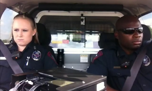 These Police Officers Are Hip Hop Cops. Watch What They Do In Their Car!