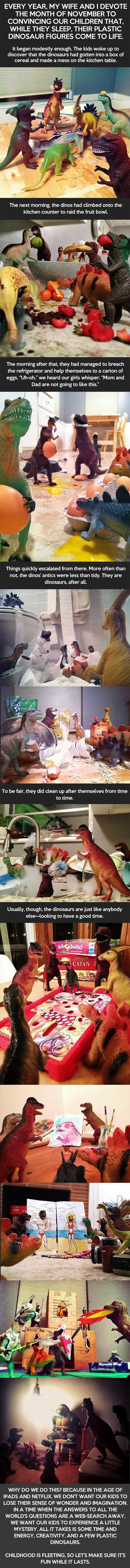 If You Were A Child, How Would Real Dinosaurs Be For A Surprise?