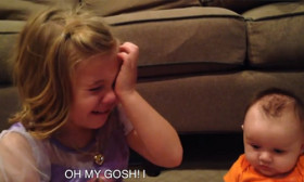 This Little Girl Cries Her Heart Out When She Finds That Her Baby Brother Will Grow Up.