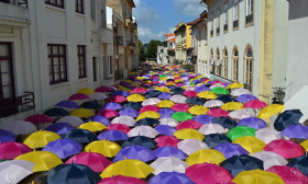 Every July, The Streets Of A Portuguese Town Are Covered With Umbrellas
